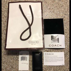 Coach leather money clip.